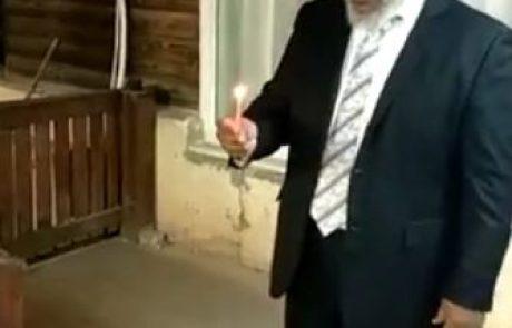 הדלקת נר חנוכה – הרב ראובן וובשת – הרב הראשי ליהדות אתיופיה