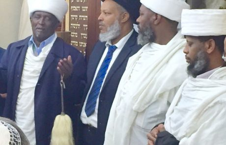 """הרב ראובן וובשת שליט""""א רבה הראשי של העדה האתיופית בישראל – יקיר העיר נתיבות 2018"""